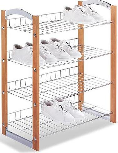 4 Tier Shoe Shelf - Organize it All - 17045