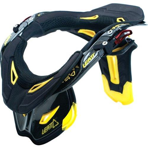 Leatt GPX Pro Neck Brace Dirt Bike Motorcycle Body Armor - Carbon/Black/Yellow/Black / Medium