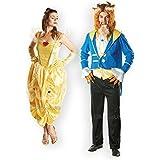 Herren & Damen Paar Kostüme Märchen Belle Disney Die Schöne und das Biest Fasching Karneval Kostüm