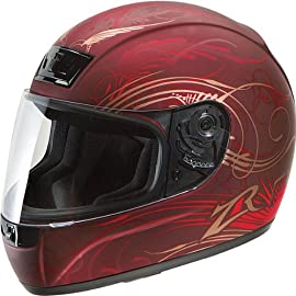 Z1R Phantom Full-Face Motorcycle Helmet Monsoon Wine 2X - 0101-3335