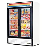True Refrigeration GDM-49FLD Freezer Glass Door Merchandiser, LED, White, 49 cu ft, Each
