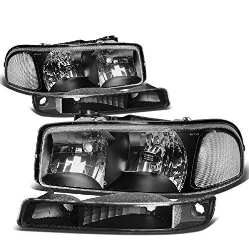 gmc-sierra-yukon-gmt800-black-housing-headlight-clear-corner-bumper-light-by-auto-dynasty