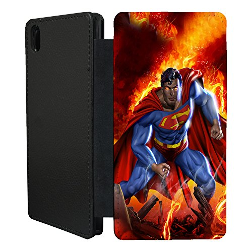 superman-2-flip-case-cover-for-sony-xperia-z3-plus-t1809-flamed-hero