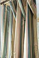 Oceanic silk satin stripe curtain