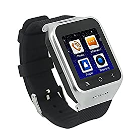 ZGPAX S8 Android 4.4 Dual Core Smart Watch Phone Wrist Wrap Watch Phone,1.54inch LG Multi-point Touch Screen,3G WCDMA,Bluetooth 4.0,Bulit-in GPS,2MP Camera