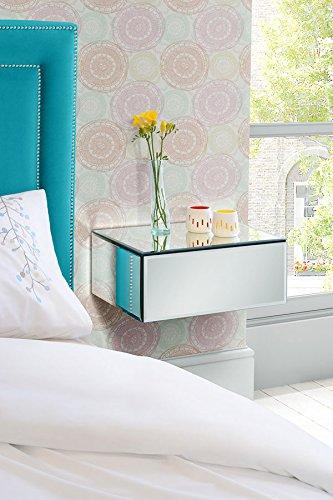 MY- Furniture - Mobilier miroir - Table de chevet / Console / Étagère / Rangement flottant en miroir INGA