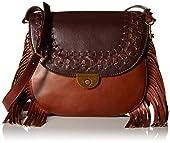 Fossil Emi Fringe Large Saddle Bag