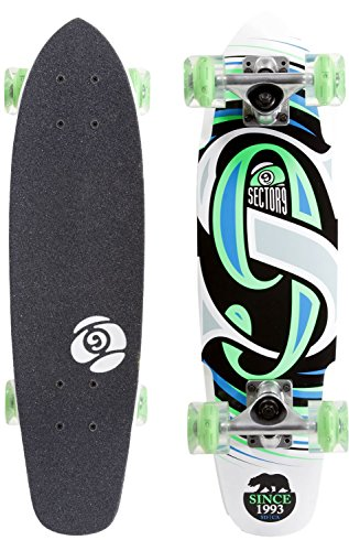 "Steady 25"" Cruiser Skateboard Complete With Sunset Led Wheels"