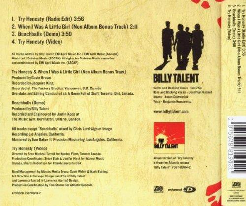 Billy Talent Try Honesty Amazon.com Billy Talent Try