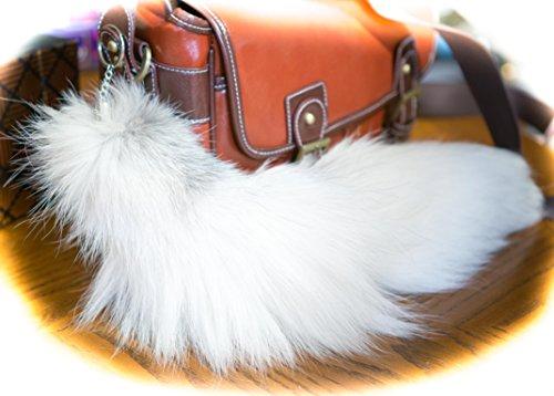 3-for-2-white-mix-massive-40-45cm-fluffy-tail-shaped-keyring-key-chain-clip-handbag-charm-with-split
