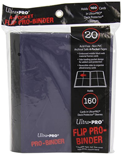 Ultra Pro PRO-Binder, 4-Pocket, Blue/Black