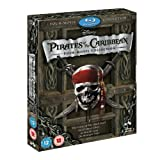Pirates of Caribbean 1-4 Blu-ray Quadrilogy (The Curse of Black Pearl / Dead Mans Chest / At Worlds End / On Stranger Tides)