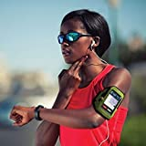 Armpocket i-10 armband for iPhone 5s/5c/4 or similar phones and cases up to 5 inches. Black, Medium Strap Length.
