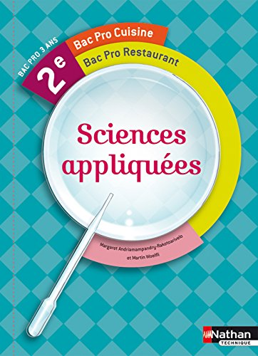Sciences appliquees 2e bac pro cuisine et restaurant for Sciences appliquees cap cuisine