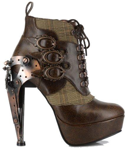 Hades Brown Oxford Boot Heels UK 5.5
