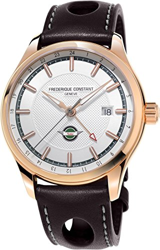 Limited Edition Frederique Constant Vintage Rally Healey GMT Gold Plated Mens Watch FC-350HVG5B4