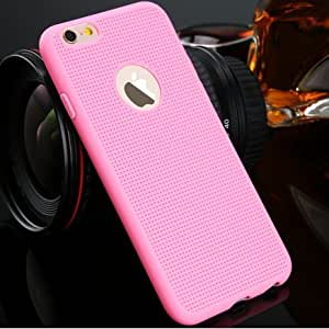 ikazen Heat Dissipation Hollow Thin Soft TPU Back Case Cover for Apple Iphone 5 5S - Pink