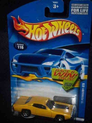 #2002-116 1971 Plymouth GTX Collectible Collector Car Mattel Hot Wheels - 1