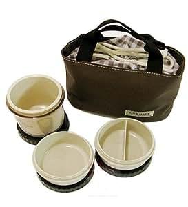 Lock & Lock Lunch Box Set 3-teilig (rund/klein) HPL745B braun