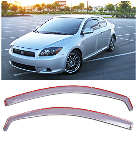 VXMOTOR - 05-10 Scion TC Light Tint Side Window Visors Gen 1 JDM Rain Guard In-Channel (Scion Tc Vent Visor compare prices)