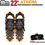 "New MTN Man Woman Kid Youth 22"" Gold Snowshoes with Nordic Walking Pole Free Bag snowshoe"