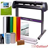 Vinyl Cutter USCutter MH 34in BUNDLE - Sign Making Kit w/ Design & Cut Software, Supplies + Tools