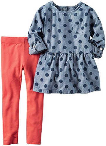 Carter's Baby Girls 2 Pc Playwear Sets, Print, 18M