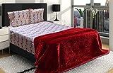 AmazingHind AC blanket.Mink Korean soft double bed ac blankets.The best ac blankets online. Color-Maroon