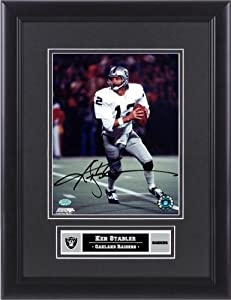 Ken Stabler Oakland Raiders Framed Autographed 8 x 10 Photograph - Memories - Mounted... by Sports Memorabilia