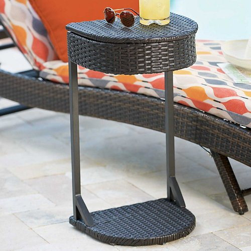 Resin Wicker Poolside Storage Table - Improvements