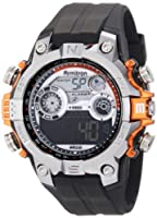 Armitron Men's 40/8251ORG Round Metalized Orange Accented Digital Sport Watch from Armitron