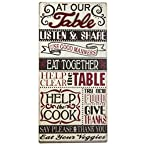 Wood Table Rules Sign