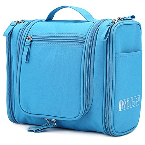 Aprince Toiletry Bag For Men & Women - Hanging Toiletries Travel Bag For your Personal Items - Great to use In Hotel, Car, Home, Bathroom, Airplane (Blue) (Personal Organizer Bathroom compare prices)