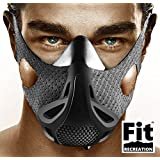 Altitude Workout Mask by FitRecreation - Workout Mask for Running, Biking, and Fitness - High Altitude Simulation Mask For Top Performance - Restricting Breathing Mask - 4 Level Workout Mask