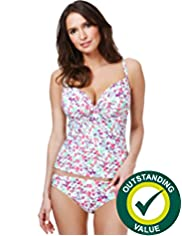 Underwired Garden Ditsy Print Tankini Top