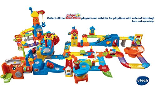 [해외]ECH 이동! 가기! 스마트 휠 디럭스 트랙 Playset의/VTech Go! Go! Smart Wheels Deluxe Track Playset