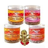 Chocholik Dry Fruits - Almonds Tandoori Masala, Tangy Tomato, Lemon Pepper & Cheese Onion With Ganesha Idol -...