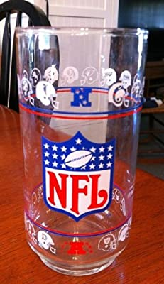 1976 Mobile NFL Drinking Glass Tumbler 28 Teams of the AFC & NFC