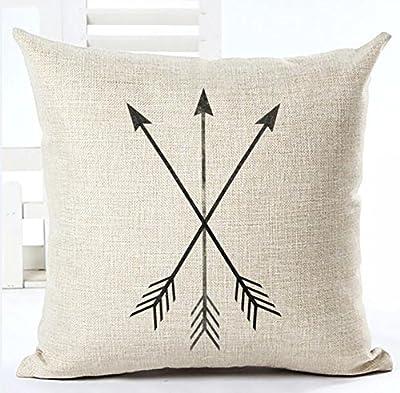 Feather Arrow Magic squares Cotton Linen Throw Pillow Case Cushion Cover Home Sofa Decorative 18 X 18 Inch ¡