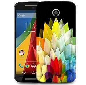 Snoogg Colorful Flower Petals 2768 Designer Protective Phone Back Case Cover For Motorola G 2nd Genration / Moto G 2nd Gen