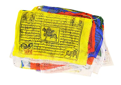 Mandala Crafts® Tibetan Lungta Large Prayer Flags, 25 Flags, 11 X 6.5 Inches - 1