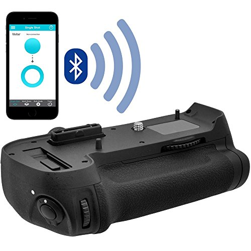 Vivitar MB-D12 Smart Bluetooth Smartphone Control Battery Grip for Nikon D800, D800E & D810 DSLR Camera with 64GB Card + Battery & Charger + Kit