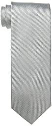 Bruno Piattelli Men\'s Tall-Plus-Size Extra Long Solid Silk Tie, Silver, One Size