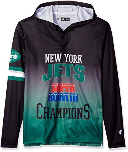 NFL New York Jets Super Bowl III Champions Hoody Tee, Large (Super Bowl Iii compare prices)
