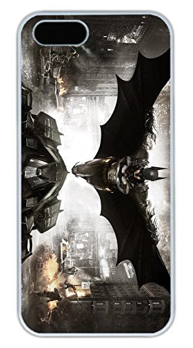 iPhone 5S Case, iPhone 5S Cases - Slim Fit White Hard Case Bumper for iPhone 5/5s Batman Arkham Knight 3 Anti-Scratch Hard Back Bumper Case for iPhone 5/5S at Gotham City Store