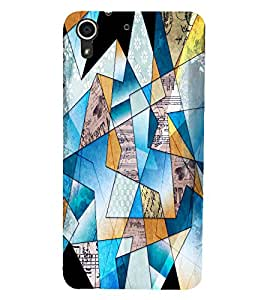 HTC DESIRE 728 DIAMOND CUTS Back Cover by PRINTSWAG