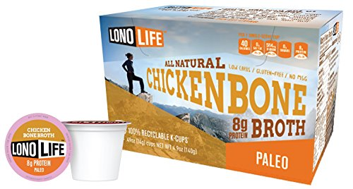 LonoLife Chicken Bone Broth, 8 Gram (10 Count) (K Cups Chicken Broth compare prices)