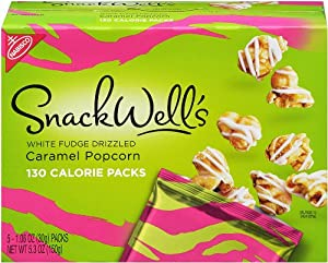 Snackwell's White Fudge Drizzle Caramel Popcorn, 5.3-Ounce (Pack of 6)
