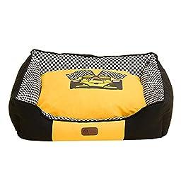 Quno Cozy Pet Dog Bed Warm Soft Sofa Cushion Washable Racing Car L