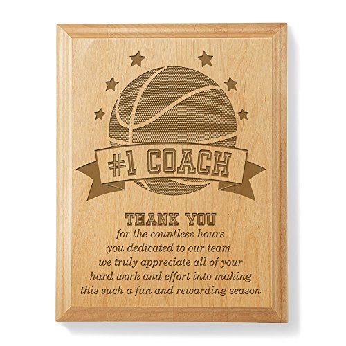 Kate Posh - #1 Basketball Coach Plaque and Award